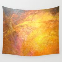 code Wall Tapestries featuring Code Burst by Asya Abdrahman