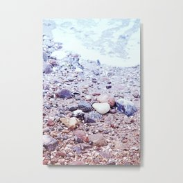 Colorful Stones by the Baltic Sea Metal Print