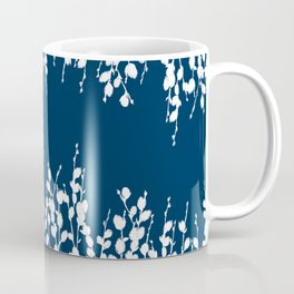 Pussywillow Silhouettes — Midnight Blue Coffee Mug