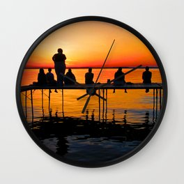 Sconnie Sunset Wall Clock