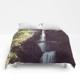 Multnomah Falls Waterfall - Nature Photography Comforters