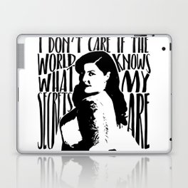 Mary Lambert Secrets Quote Laptop & iPad Skin