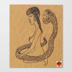 SnakeGirl Canvas Print