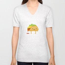 Happy Taco Unisex V-Neck