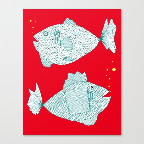 Two Old Fish Canvas Print