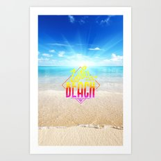 Life - beach Art Print