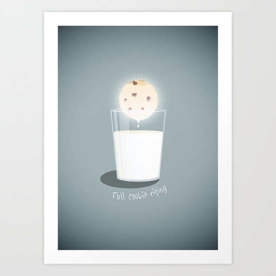 Full cookie rising Art Print