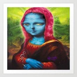 Blue Mona Art Print