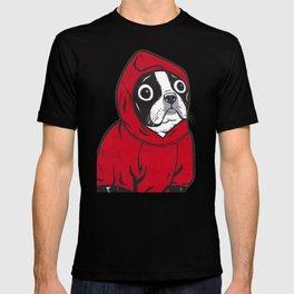Red Hoodie Boston Terrier T-shirt