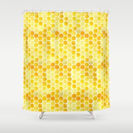 Watercolour Honeycomb Shower Curtain