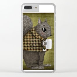 An Early Morning For Mister Squirrel Clear iPhone Case