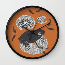 Frog on a Lily Pad Wall Clock