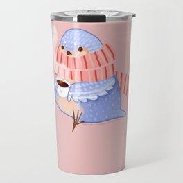 Cozy Canaries- Coffee Canary  Travel Mug