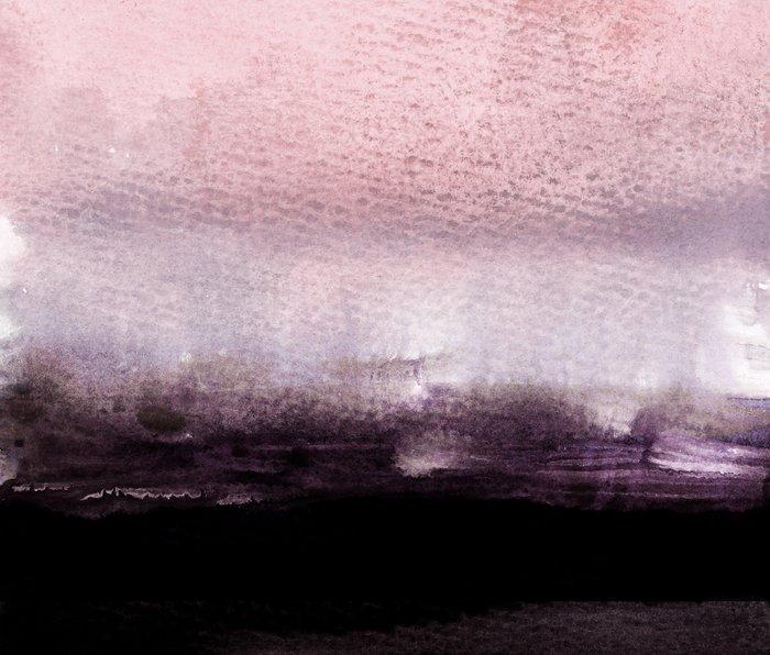 blush over purple Metal Travel Mug