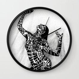 Girl In Shadow Wall Clock