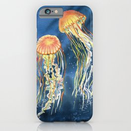 Dancing of Jellyfish iPhone Case