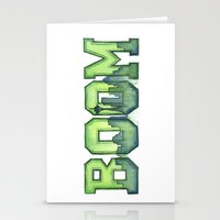 seahawks Stationery Cards featuring Legion of Boom Seattle 12th Man Art by Olechka