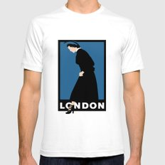 London SMALL Mens Fitted Tee White