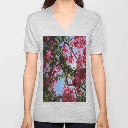 Perfect Pink Bougainvillea In Blossom Unisex V-Neck