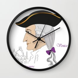 Giacomo Casanova Wall Clock