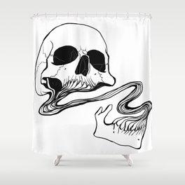 Skull (Grind) Shower Curtain
