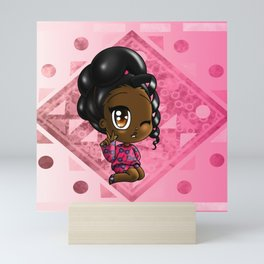 Sweet African American Girl Mini Art Print