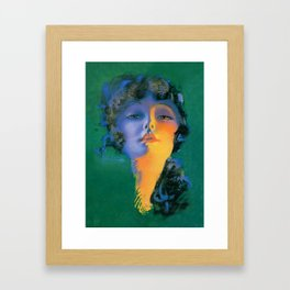 """""""Girl of My Dreams"""" Pinup by Rolf Armstrong Framed Art Print"""