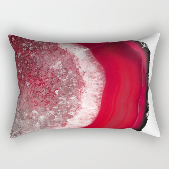 Christmas Red Agate Rectangular Pillow