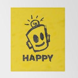 HAPPY  Throw Blanket