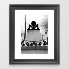 Staring down the barrel... Framed Art Print