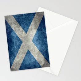 Flag of Scotland, Vintage retro style Stationery Cards