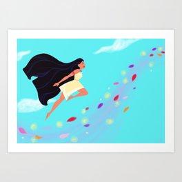Pocahontas Leap Art Print