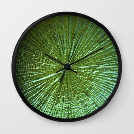 Emerald Ripple Wall Clock