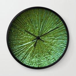 Emerald Ripple Wall Clock