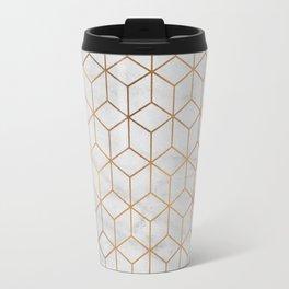 Marbled Copper Cubes Travel Mug