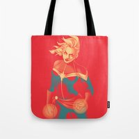 captain swan Tote Bags featuring Captain by SandraG.N.