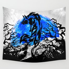 WOLF OF THE NIGHT Wall Tapestry