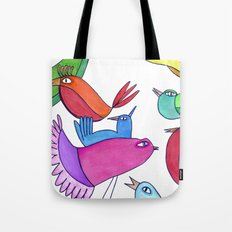 gossipy birds Tote Bag