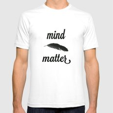 Mind > Matter (white) White SMALL Mens Fitted Tee