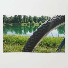 Nice day for a ride Rug