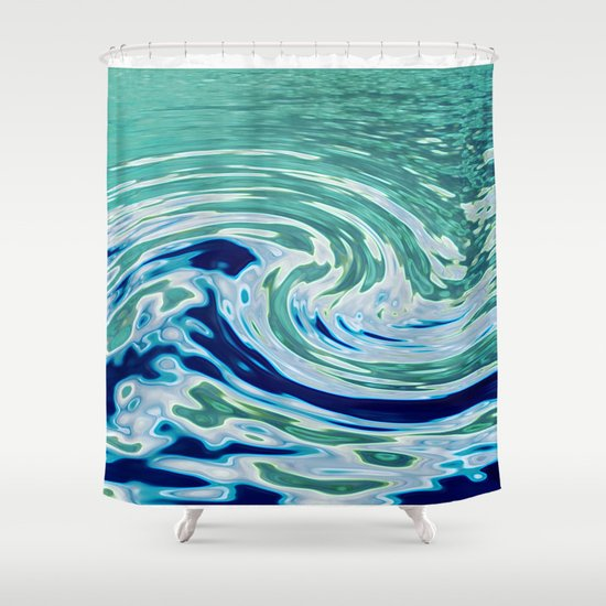 OCEAN ABSTRACT 2 Shower Curtain