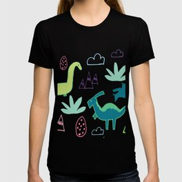 Dino Fun land Black T-shirt