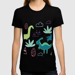 Dino Fun land Black T-shirt