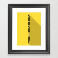 A MOVIE POSTER A DAY: SUNSHINE Framed Art Print