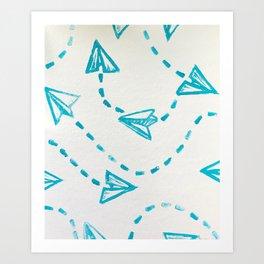 Paper Plane Print Art Print