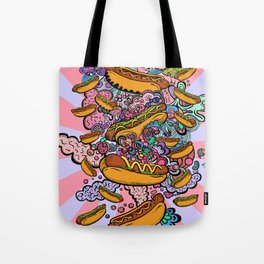 Hot dogs attack Tote Bag
