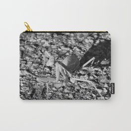 Monochrome Praying Mantis Carry-All Pouch