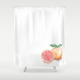 Watercolour Grapefruit Shower Curtain