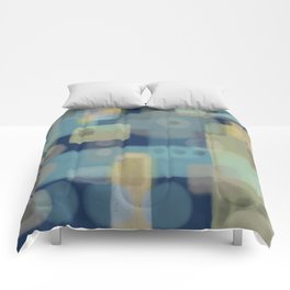 Some of This and That - Dark Blue Abstract Art Comforters