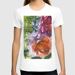 rose and peony (abstract) T-shirt